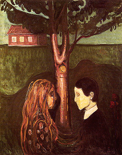 """Eye in eye"" painting by Edvard Munch"