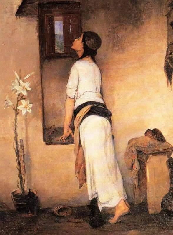 """""""Η Προσμονή"""" πίνακας του Νικηφόρου Λύτρα"""